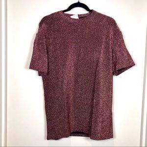 H&M Sparkly T-Shirt Dress